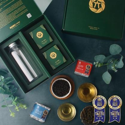 蟬覓美人茶(二兩75g)x1雪窖烏龍青茶(二兩75g)x1-茶葉禮盒-附PET冷泡瓶