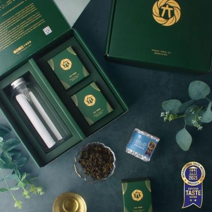 雪窖烏龍青茶(二兩75g)x2-茶葉禮盒-附PET冷泡瓶