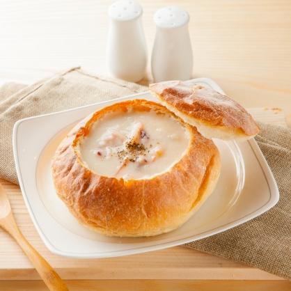 【易鼎活蝦】主廚特製法式麵包盅-海鮮巧達 6盒