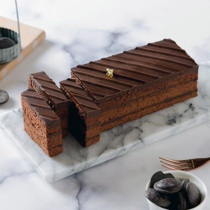 【巧克力黑金磚蛋糕18cm】蘋果日報蛋糕評比冠軍 美食按個讚、News金探號推薦、彌月蛋糕推薦