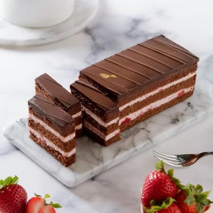 【草莓黑金磚18cm】 ★News金探號熱情推薦、彌月蛋糕推薦