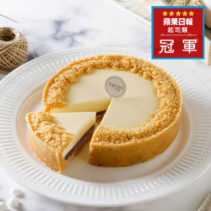 【榛果巧克力乳酪6吋】2020蘋果日報蛋糕評比冠軍,手工榛果巧克力天然香氣,滋味迷人