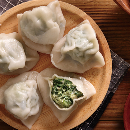 韭菜冷凍水餃