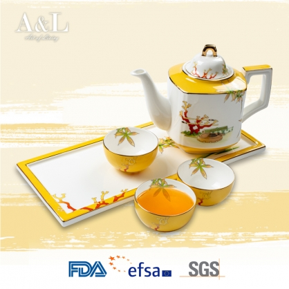 Coral 4-Piece Tea Set 美人香頸飾珊瑚 AOL001