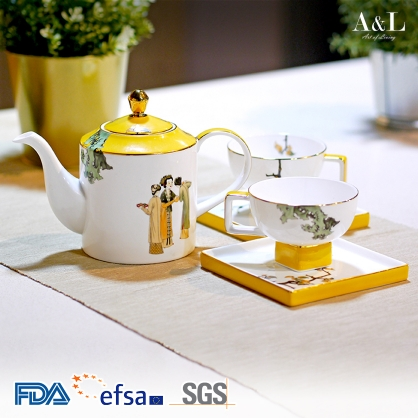 Ladies Teapot Set 紅衫侍女喜氣新 AOL002