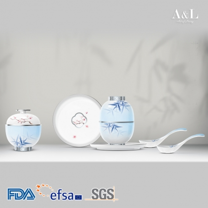 Bowl Set of 2 花間‧ 青竹茶具配套 AOL006