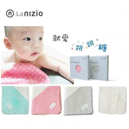 Nizio 跳跳糖嬰兒四層紗浴包巾 圍裙 浴巾 包巾 被毯