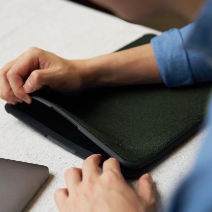 UNIQ|DFender 時尚緩衝 磁吸筆電保護套 橄欖綠 13/15吋