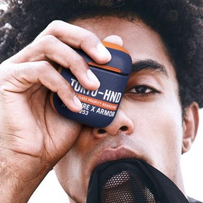 Skinarma 日本潮牌|Bando AirPods 1/2代 個性藍牙耳機保護套 藍色