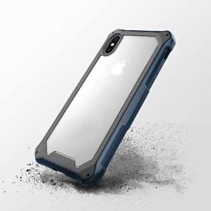 UNIQ|Xtremsis 軍規認證雙層耐衝擊 防摔手機保護殼 黑/藍 iPhone X/XS