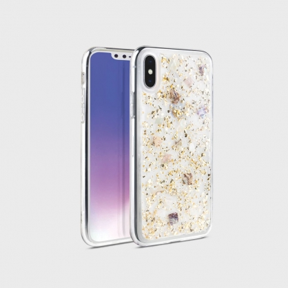 UNIQ|Lumence clear 真正珍珠貝殼雙料防摔手機殼 金色 iPhone X/XS/XR/XSMax