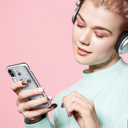 UNIQ|Lumence clear 真正珍珠貝殼雙料防摔手機殼 銀色 iPhone X/XS/XR/XSMax