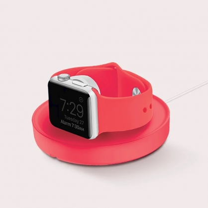 UNIQ|Dome Apple watch 手錶支架收納繞線器 粉色
