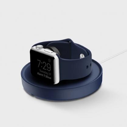 UNIQ|Dome Apple watch 手錶支架收納繞線器 藍色