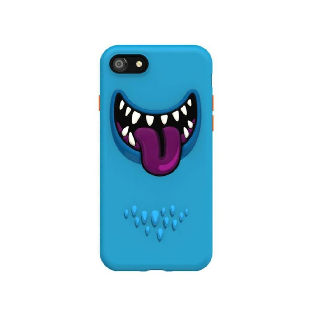 SwitchEasy|MONSTER 3D笑臉怪獸手機保護殼 藍色 iPhone SE2/7/8