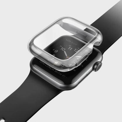 UNIQ|Garde Apple Watch Series 4/5全包覆輕薄透明防撞保護框 40/44mm
