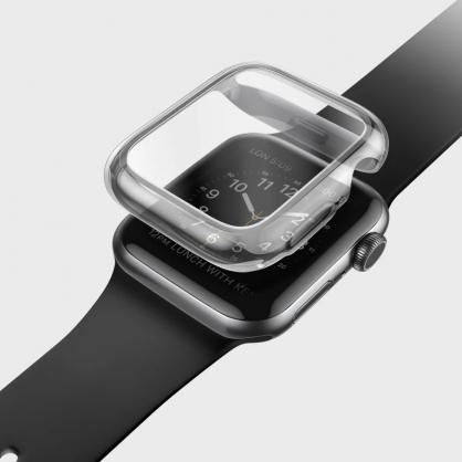 UNIQ|Garde Apple Watch 全包覆輕薄透明防撞保護框 40/44mm