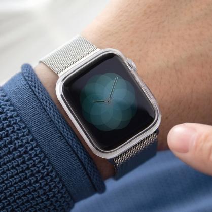 UNIQ|Glase Apple Watch 0.4mm完美包覆輕薄透明防撞保護框 40 / 44 mm