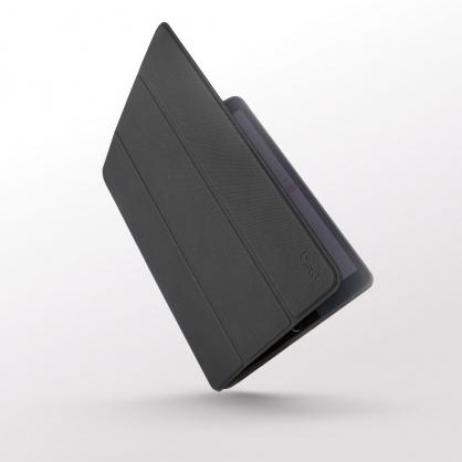 UNIQ|Rigor 輕薄三折可立式 帶筆槽平板皮套 iPad 9.7吋 烏木黑