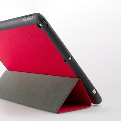 UNIQ|Rigor 輕薄三折可立式 帶筆槽平板皮套 iPad 9.7吋 珊瑚紅