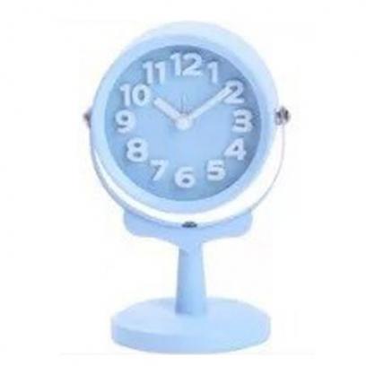 正品韓國 Domesky|千韓良品 馬卡龍色探照燈 床頭懶人鬧鐘裝飾 藍色