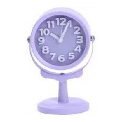 正品韓國 Domesky|千韓良品 馬卡龍色探照燈 床頭懶人鬧鐘裝飾 紫色