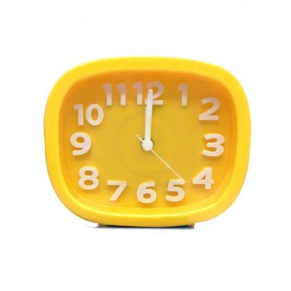 正品韓國 Domesky|糖果色指針鬧鐘 拍攝道具 擺飾 黃色