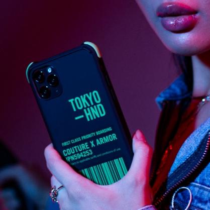 Skinarma 日本潮牌 Bando Sheer 耐衝擊防摔透明手機殼 透黑+綠 iPhone11/11 Pro/11 Pro Max