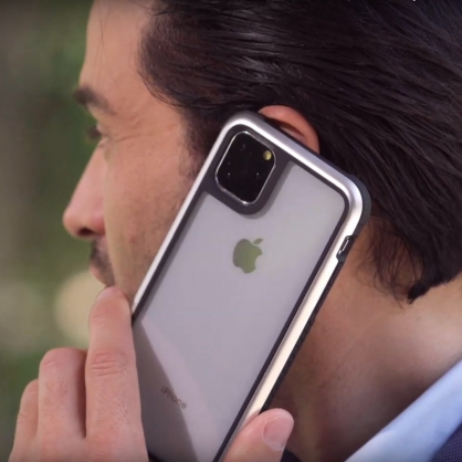 Switcheasy|GLASS REBEL 軍規防摔玻璃殼 金屬銀 iPhone 11/11 Pro/11 Pro Max