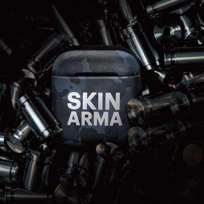Skinarma 日本潮牌|CAMO AirPods 1/2代 迷彩耳機保護套 海軍藍