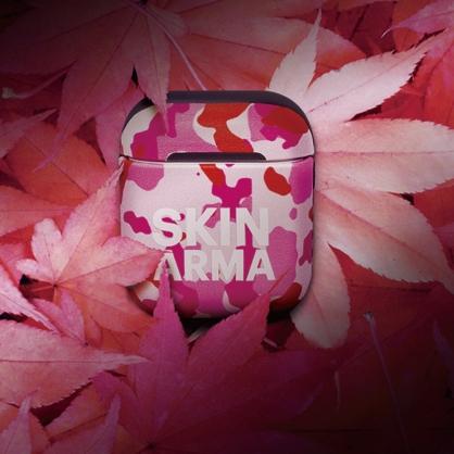 Skinarma 日本潮牌|CAMO AirPods 1/2代 迷彩耳機保護套 粉紅