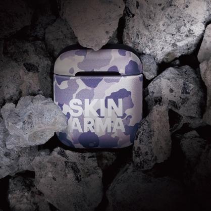 Skinarma 日本潮牌|AirPods 1/2代 迷彩耳機保護套 冰灰