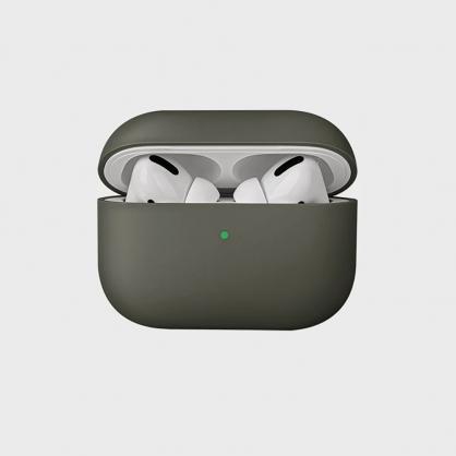 UNIQ |Lino AirPods Pro 素色簡約液態矽膠 藍牙耳機保護套 軍灰色