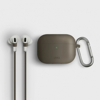 UNIQ | Vencer AirPods Pro 全包藍牙耳機矽膠保護套 棕色