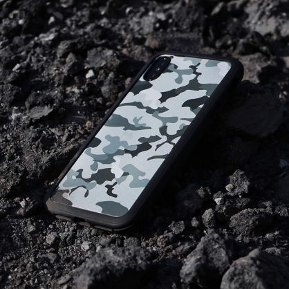SOLiDE|維納斯 設計背蓋 灰濛迷彩 iPhone 6/7/8/plus/XS/X/MAX/XR