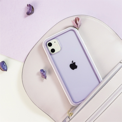 SOLiDE 維納斯 玩色 防摔手機保護殼 白紫 iPhone11/11 Pro/11 Pro Max