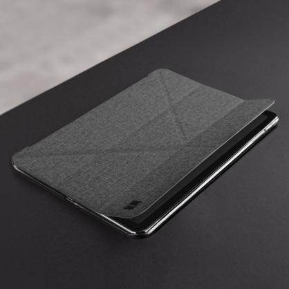UNIQ|Yorker Kanvas Mini 支持無線充 輕薄多折磁吸保護套 灰色 iPad系列