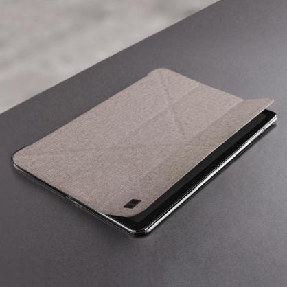 UNIQ|Yorker Kanvas Mini 支持無線充 輕薄多折磁吸保護套 米色 iPad系列