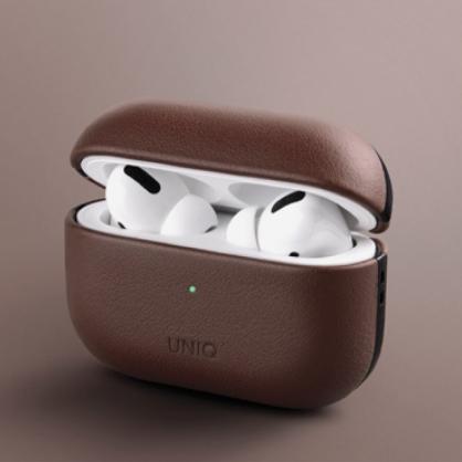 UNIQ|Terra AirPods Pro 手工真皮收納保護套 配掛勾 棕色
