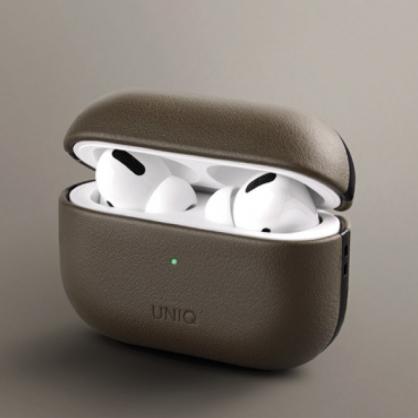 UNIQ|Terra AirPods Pro 手工真皮收納保護套 配掛勾 橄欖綠
