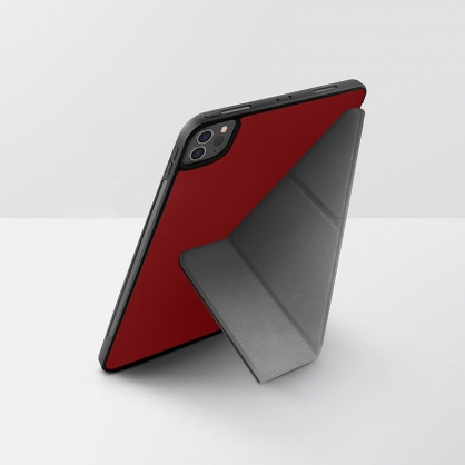 UNIQ|Transforma Rigor 輕薄多功能可立式 帶筆槽平板保護套 紅色 iPad系列