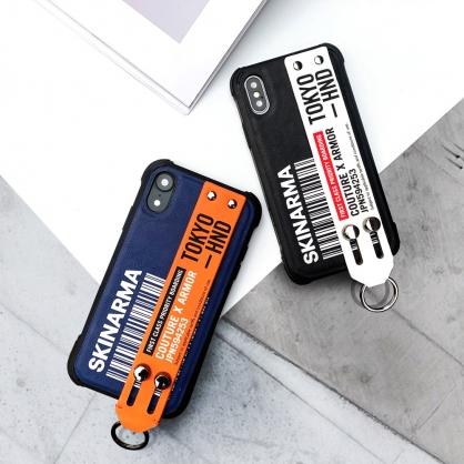 Skinarma 日本潮牌|Bando 設計帶腕帶支架手機防摔保護殼 黑白 iPhone全系列