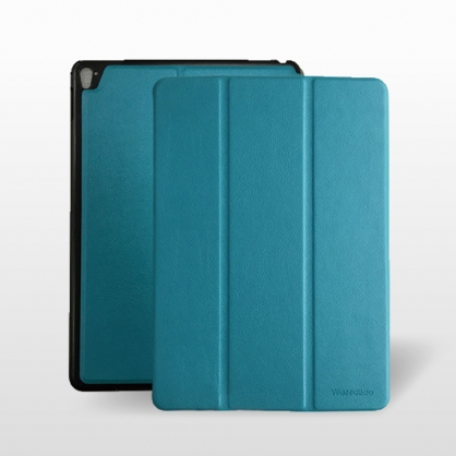 WazzaBee|Leather 平板立架保護套 淺藍 iPad 9.7吋