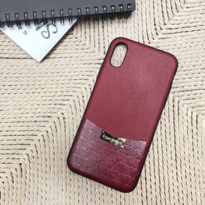 Esoterism 賈桂琳 奢華質感仿皮革手機殼 華麗紅 iPhone X / XS