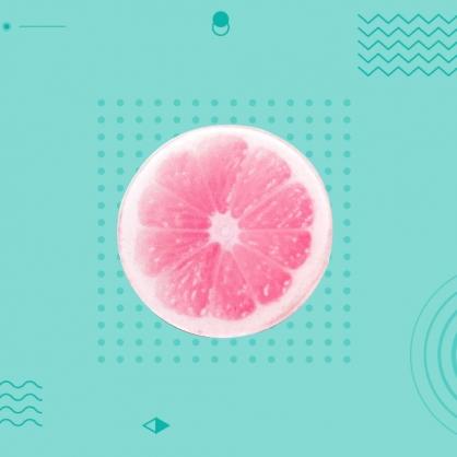 多功能泡泡騷伸縮氣囊手機支架 葡萄柚
