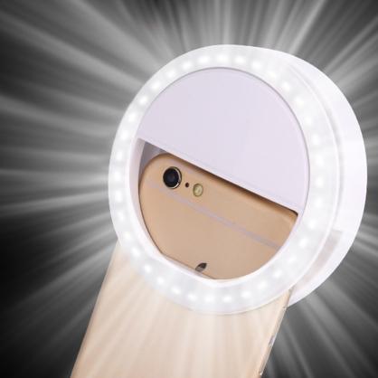 超美肌柔膚三檔補光自拍神器 美顏自拍鏡頭夾