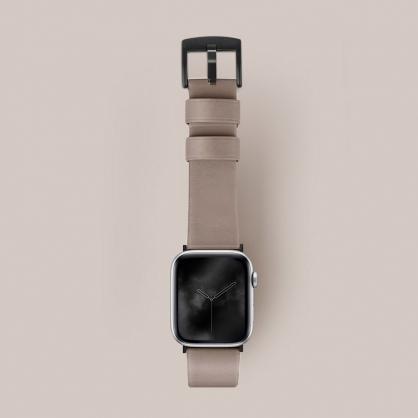 UNIQ|Mondain Apple watch 極簡薄型高級不銹鋼超柔軟真皮革錶帶 42/44 mm