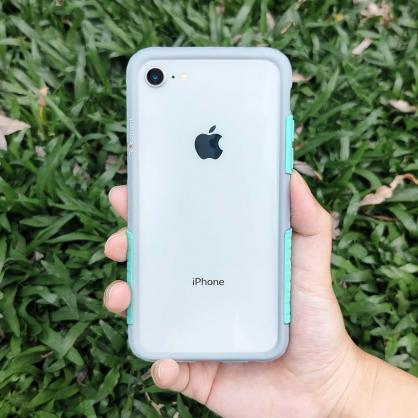 Telephant 太樂芬|NMDer 抗汙防摔手機殼 灰無憂綠 iPhone全系列