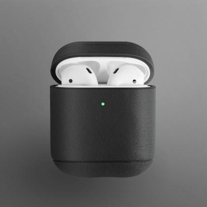 UNIQ|Terra AirPods 1/2代 手工真皮收納保護套 配耳機套 黑色
