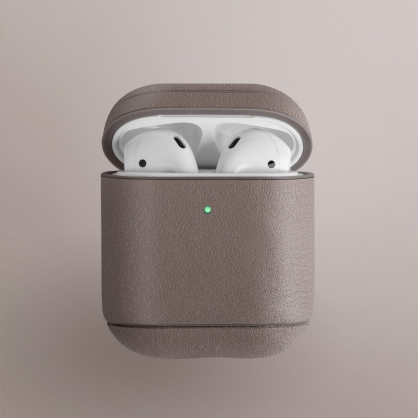 UNIQ|Terra AirPods 1/2代 手工真皮收納保護套 配耳機套 米色